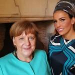 Linor Abargil & Angela Merkel