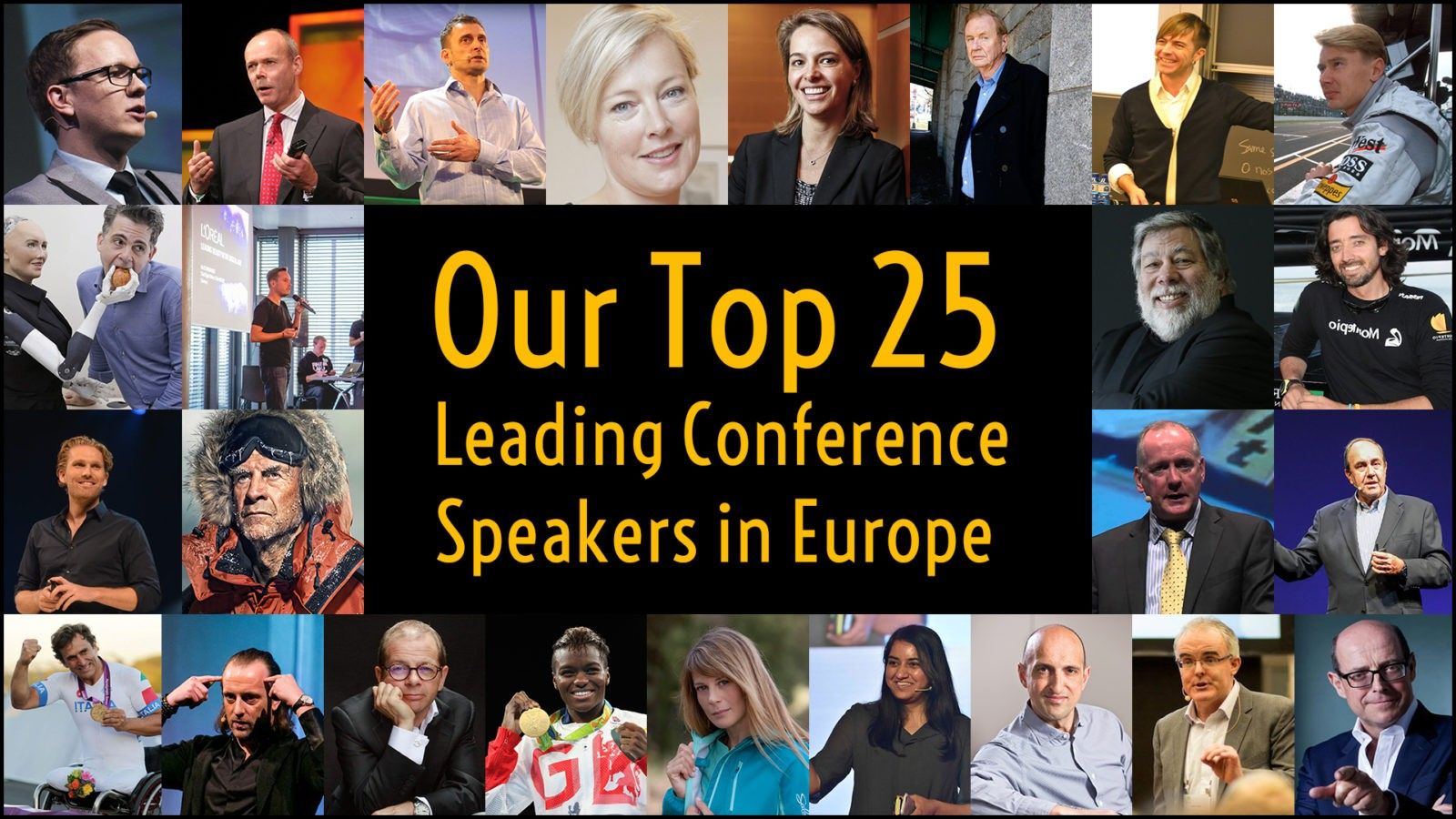 Our Top 25 in-demand speakers for conferences and corporate events across Europe